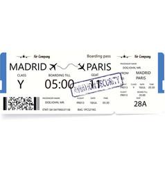 Blue boarding pass vector