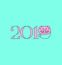 boar happy new year vector image