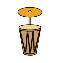 bongo musical instrument icon vector image
