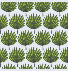 bright green tropical palm leaves pattern vector image