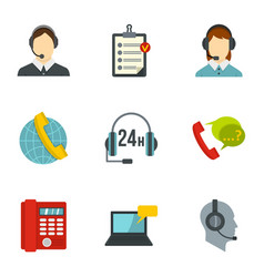 Business customer care service icons set vector