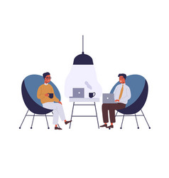 business lounge zone flat vector image