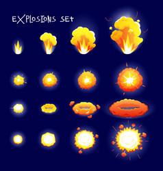 Cartoon Explosion Set vector image