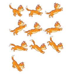 Cat Jumping Animation vector