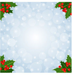 christmas decorative card background vector image
