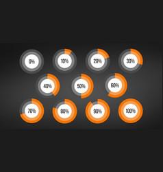Circle percent diagram pie charts infographic vector