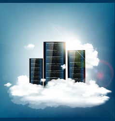 cloud computing server for data storage vector image