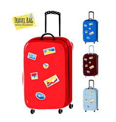 collection travel bags vector image