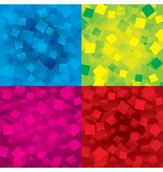 Colorful abstract backgrounds set with rectangles vector