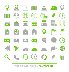 contacts icon set vector image
