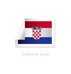 Croatia label flags template design vector