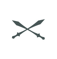 cross swords icon flat vector image