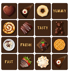 Dessert and baked goods vector