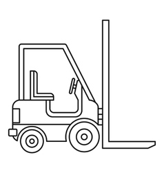 Electric loader icon outline style vector