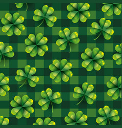 Exotic clover plant with leaves background vector