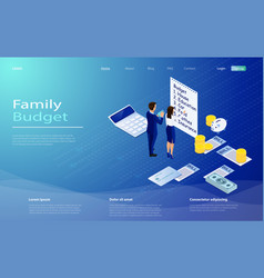 family budget income distribution planning vector image