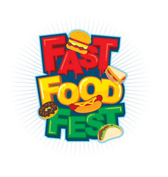 Fast food festival logo vector