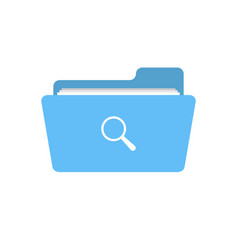 find folder glass look magnifier search view icon vector image