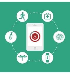 Health technology design vector