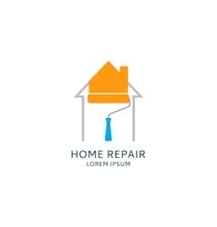 Home repair logo template vector image