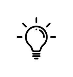 lamp light bulb icon vector image