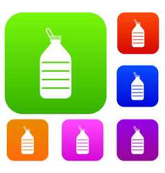 Large bottle of water set collection vector
