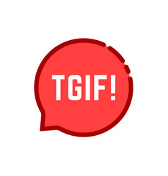 linear tgif speech bubble logo on white vector image