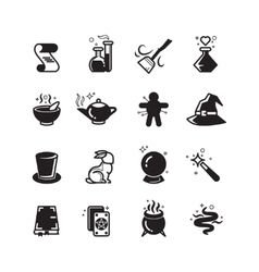 Magical icons set vector image vector image