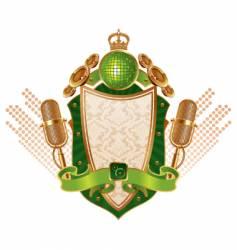 musical heraldic shield vector image