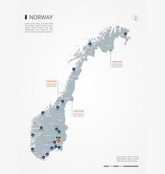 Norway infographic map vector
