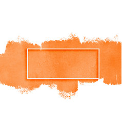Orange watercolor texture with text space vector