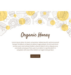 organic honey production banner template vector image
