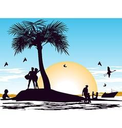 paradise on island vector image