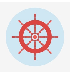 Pirate icon helm of ship Flat design vector image