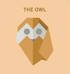 Polygon animals origami owl vector