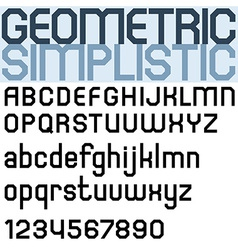 Poster black bold font and numbers facet geometric vector