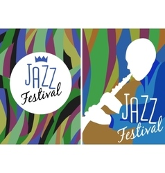 Retro Jazz festival Poster vector