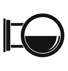 Round city light box icon simple style vector
