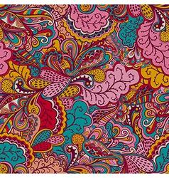 Seamless abstract hand-drawn waves pattern wavy vector