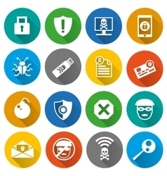 set security icons vector image