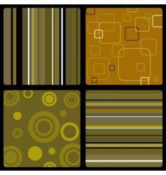 Seventies wallpaper brown vector