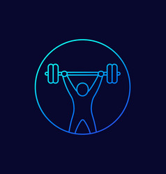 Strength training icon workout fitness vector