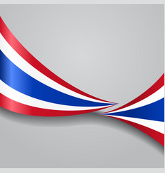 Thai wavy flag vector