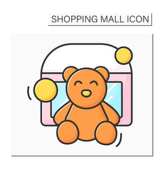 Toy store color icon vector