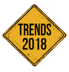 trends 2018 vintage rusty metal sign vector image