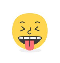 trendy tongue emoji smile eps10 vector image