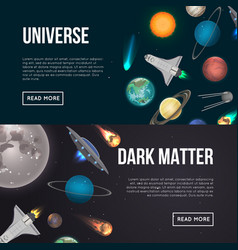 universe exploration flyers with cosmic elements vector image