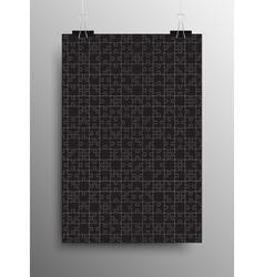Vertical Poster A4 Puzzle Pieces Black Puzzles vector