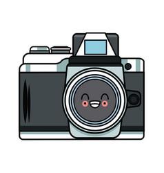 Vintage Photographic Camera Kawaii Cute Cartoon Vector Image