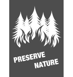 warning poster protect environment vector image
